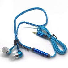 лучшая цена Zipper Earphone 3.5mm In-ear Earphones With Microphone For phone Wired Earphone For Phone