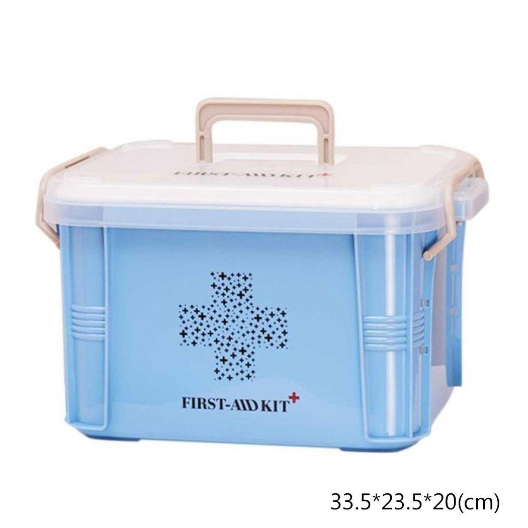 Portable Handle Medicine Storage Container Organizer Home, School, Office, Outdoor, Etc Emergency Kit