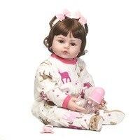 NPKCOLLECTION ручной работы кукла реборн Горячая распродажа! куклы винил силиконовая кукла с парик волос очень милая Одежда Игрушки для ваших дет