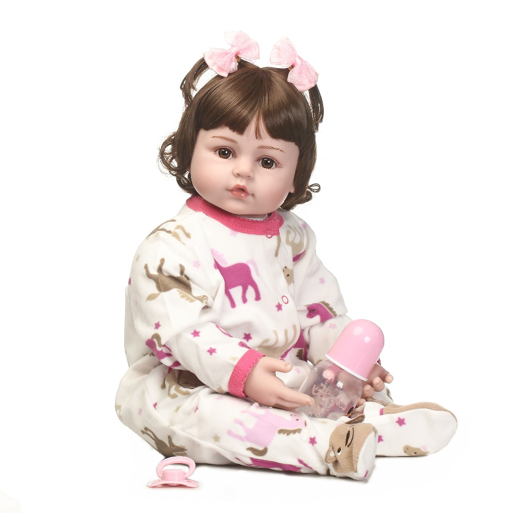 NPKCOLLECTION Handmade reborn doll hot selling doll vinyl silicone baby doll with wig hair very cute clothes toys for your kids цена