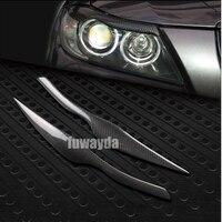 FUWAYDA E90 rear Carbon Fiber car Headlight Eyebrows cover trim sticker for BMW 3 series E90 320i 323i 325i 330i 335i