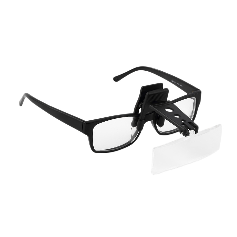 Folding Eyeglass Clip On Flip Loupe Magnifying Glass Handsfree Precise Magnifier hot selling handfree clip on magnifier folding clear magnifying glasses hd lens precise eyeglasses watch repair tool