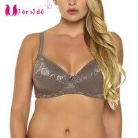Mierside 113B Cotton Embroidery Bra Minimizer Bralette Plus Size Bras For Women Tops 34 36 38