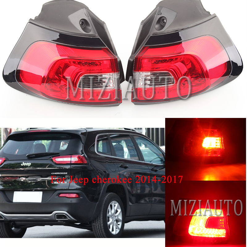 Rear Tail Light LED Outer Side for Jeep cherokee 2014 2017 external replacement Parts Tail Stop Lamp Reflector Warning Light in Car Light Assembly from Automobiles Motorcycles