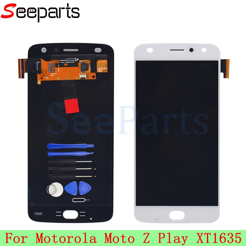 <font><b>LCD</b></font> For Moto Z Play <font><b>XT1635</b></font> <font><b>LCD</b></font> Display With Touch Screen Digitizer Panel Assembly Replacement 1920x1080 5.5