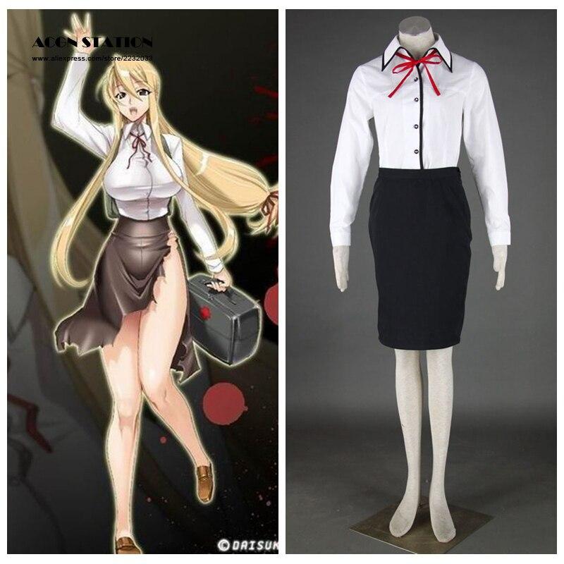 Compra high school of the dead cosplay costume y disfruta del envío  gratuito en AliExpress.com 8bf80b18ecda