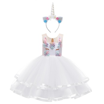 White Flower Unicorn Dress