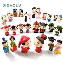 Chinese Wedding decoration Doll Bonsai Figurine fairy garden Ornament miniature Cartoon Animal Statue resin craft Gift TNS028