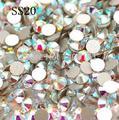 1440 шт./упак. ss20 4.8 мм Кристл AB/Очистить AB Стразы для Nail Art Плоской Задней Номера Исправлениях Клей на Nail Art Стразы 20ss