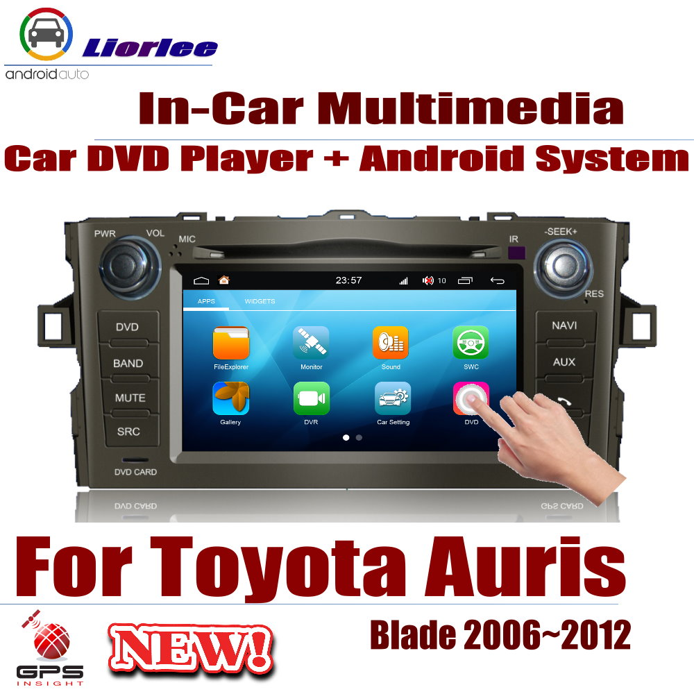 Car DVD Player For <font><b>Toyota</b></font> Auris (<font><b>E150</b></font>) / Blade 2006~2012 GPS Navigation Android 8 Core A53 Processor Radio BT SD USB AUX WIFI image