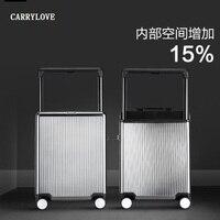 Carrylove negócios 20/24 tamanho de luxo  alta qualidade  moda pc rolando bagagem spinner marca mala viagem Malas de rodinha     -