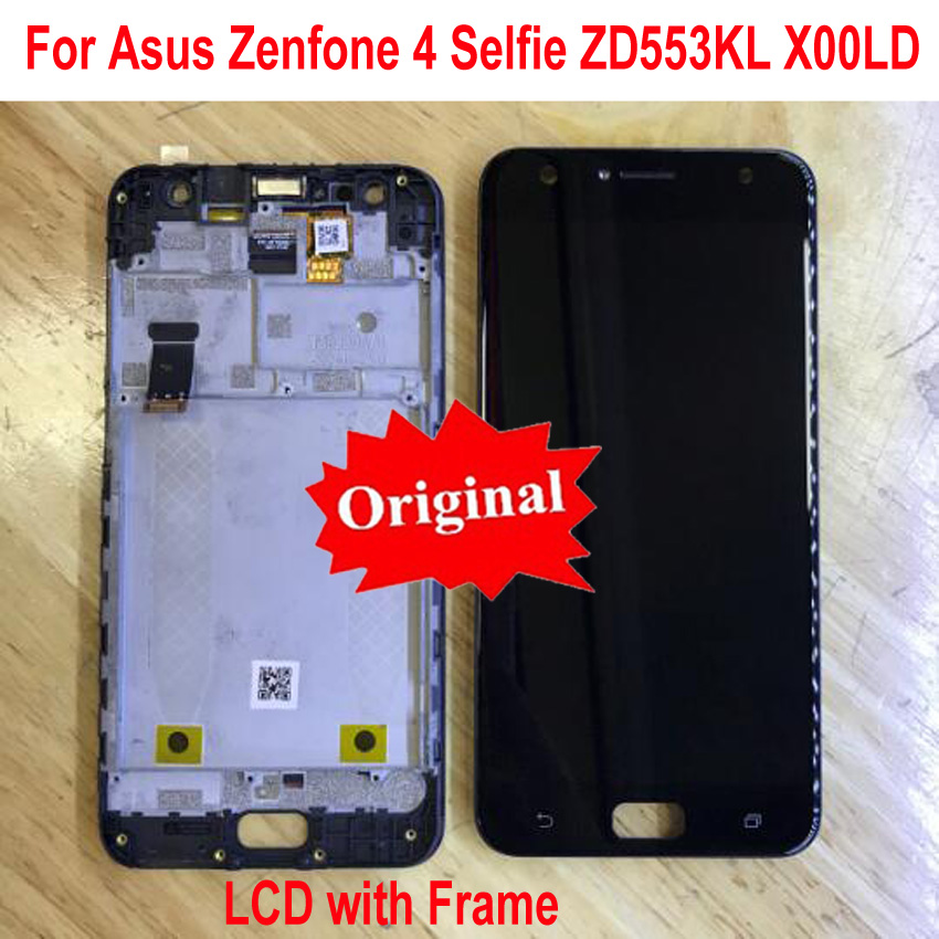 Originale Best di Lavoro del Sensore Display LCD Touch Screen Digitizer Assembly con Telaio Per Asus Zenfone 4 Selfie ZD553KL X00LDOriginale Best di Lavoro del Sensore Display LCD Touch Screen Digitizer Assembly con Telaio Per Asus Zenfone 4 Selfie ZD553KL X00LD