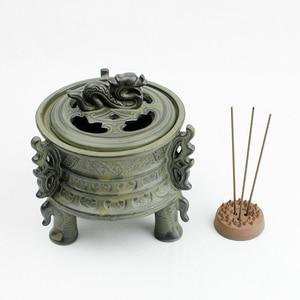 Image 4 - פיני קרמיקה מבער קטורת Binaural יצירתי מקל אנסאר ניחוח אלגום תנור מקדש בודהיסטי קרמיקה קטורת צורב