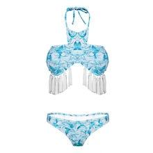 NIUMO новая женщина сексуальное бикини кисточкой печать пляж купальник бикини костюм три точка Стиль купальники