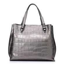 Crocodile leather pattern Handbag women tote cowhide 2016 women messenger bags
