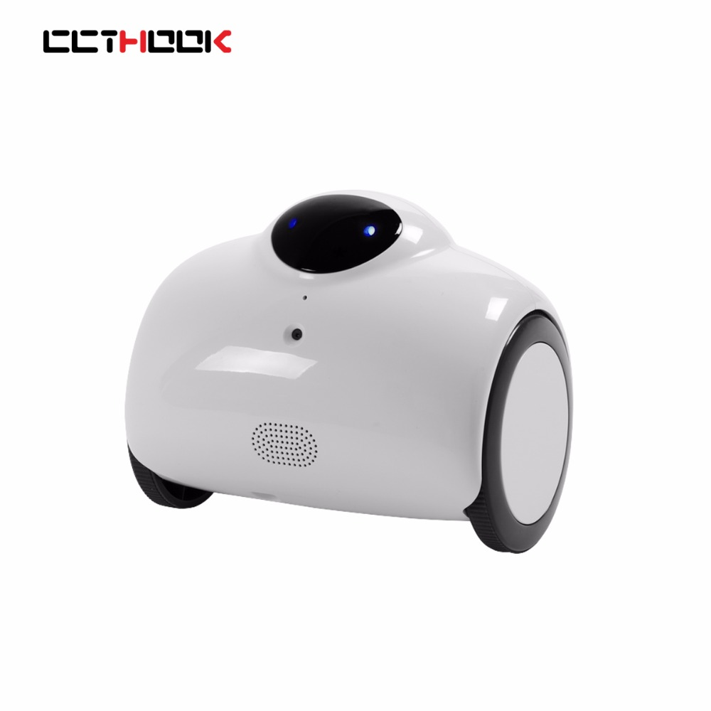 CCTHOOK HD WIFI Family Robot Baby Monitor with Remote Control & 2-Way Voice Intercom with Modified Tone & Automatic Charging