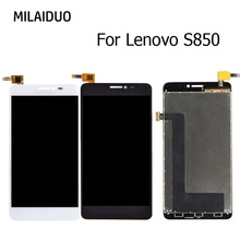 LCD Display For Lenovo S850 S850T Touch Screen Digitizer Assembly Replacement Black No Frame 5.0 Inch 100% Tested brand new white black lcd display with touch screen digitizer assembly for lenovo s850 lcd free shipping 20pcs