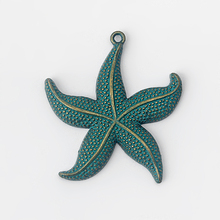 5pcs Vintage Patina Starfish Charms Pendant for Earring Bracelet Necklace Jewelry Making Accessories Material 44*48mm