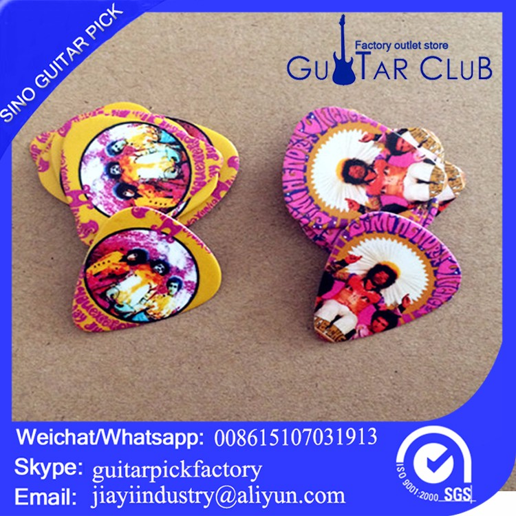 US $25 6 |Free shipping Coldplay new album conceptual custom guitar picks  120 pcs guitar pick-in Guitar Parts & Accessories from Sports &