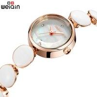 WEIQIN Brand Women Watches 2017 Luxury Ceramic Band Ladies Watch Fashion Elegant Quartz Bracelet Watch Woman