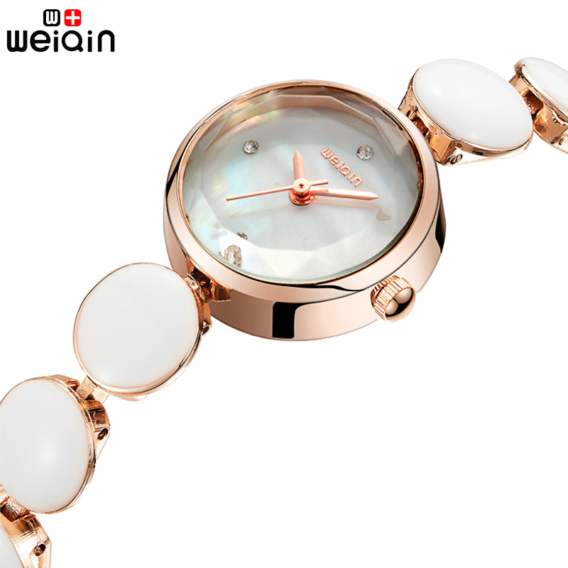 WEIQIN Brand Women Watches 2018 Luxury Ceramic Band Ladies Watch Fashion Elegant Quartz Bracelet Watch Woman Montre Femme new quartz watch weiqin band fashion white ceramic rhinestone watches women analog clock ladies watch reloje relogios feminino