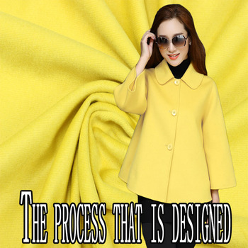Yellow twill with wool cashmere fabric autumn and winter special coat wool fabric thick wool cashmere fabric cashmere cloth