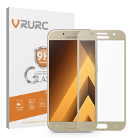 Vrurc Tempered Glass For Samsung Galaxy A5 2017 Screen Protector 2 5D Full Cover 9H Protective