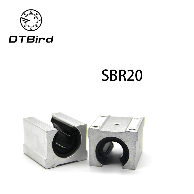 4 pcs SBR20UU SBR20 Linear Bearing 20mm Open Linear Bearing Slide block 20mm CNC parts linear slide 2pcs sbr20 linear guide 20mm linear rails 4 pcs sbr20uu ball bearing block cnc router