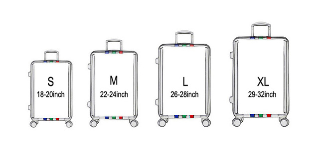 Travel on Road Luggage Cover Protective Suitcase cover Trolley case Travel Luggage Dust cover for 18 to 28 inch Luggage Covers