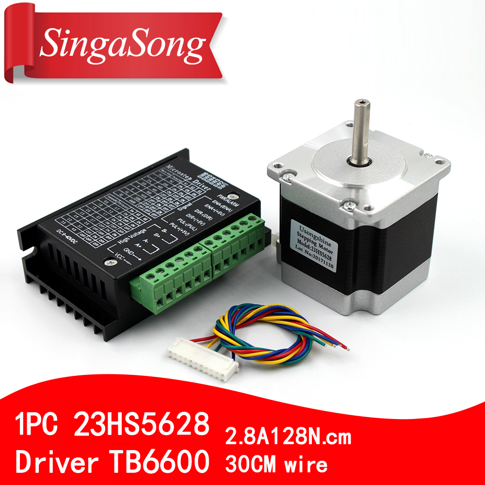 Usongshine Nema 23 23HS5628 Stepper Motor 57 motor 2.8A with TB6600 stepper motor driver NEMA17 23 for CNC and 3D printer samsung