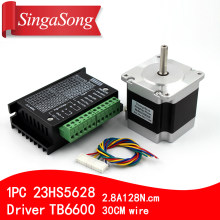 Usongshine Nema 23 23HS5628 Stepper Motor 57 motor 2.8A with TB6600 stepper motor driver NEMA17 23 for CNC and 3D printer(China)