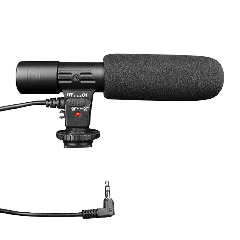 Professional Studio Digital Video DV Camera Stereo Recording Microphones Back Electret Condenser Clear Vocal Pick Up Free Ship