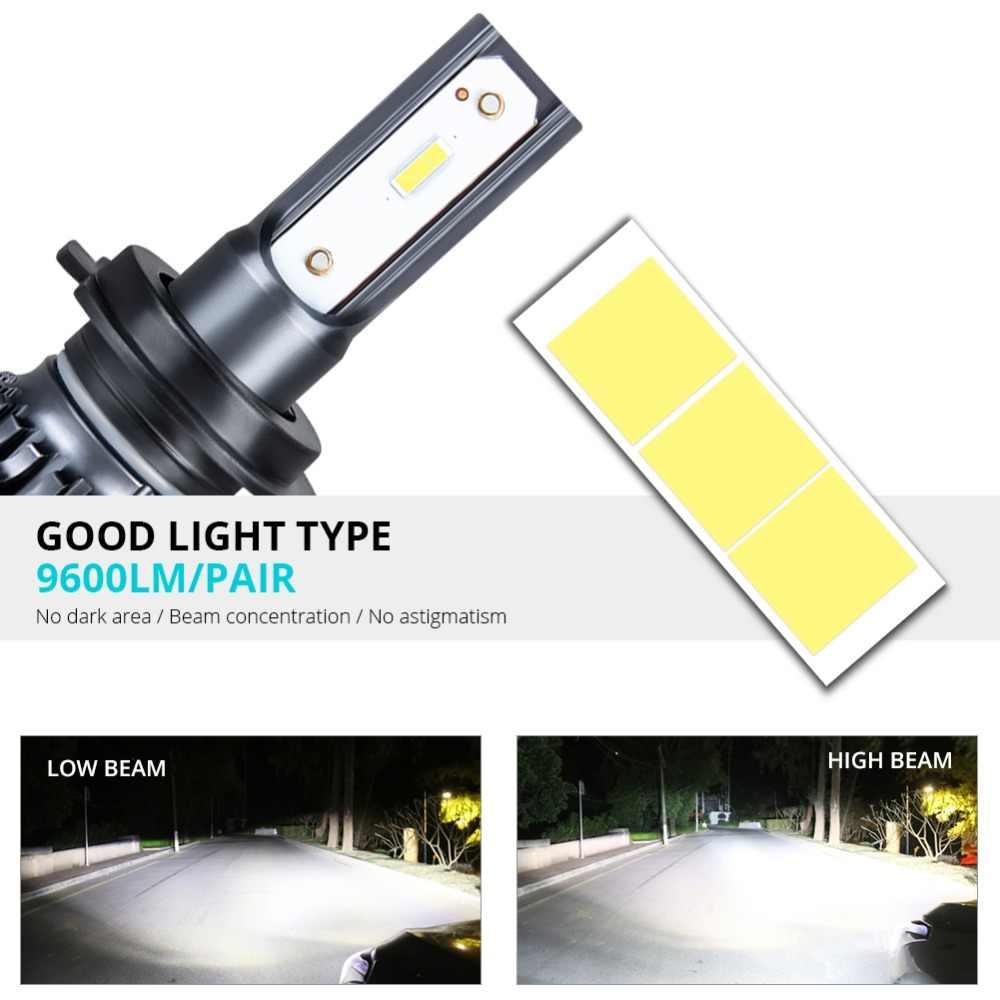 VooVoo LED Car Headlight H7 H4 LED H1 H8 H11 9005 9006 HB3 HB4 9600LM 12V Auto Headlamp Fog Light 3000K 4300K 6500K 12000K Bulbs