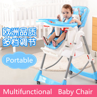 Folding Multi Colors Portable High Chair Baby Safety Feeding Chair Portable Infant Baby Sleeping Eat Chair