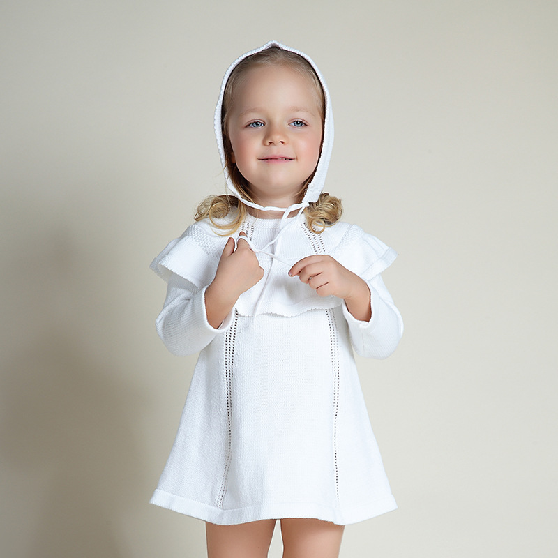 White Sweater Dress For Baby Girl 101