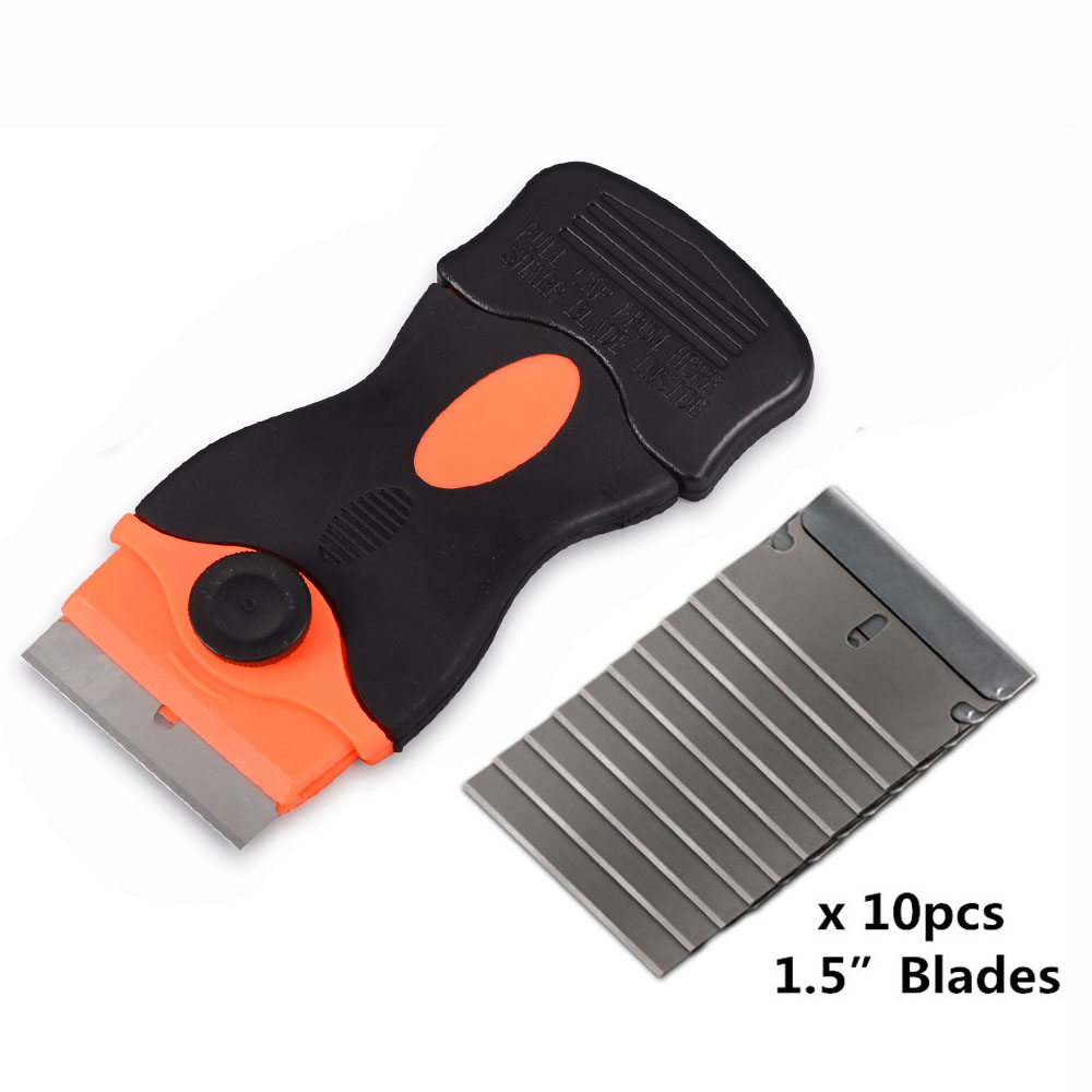 Foshio Glue Sticker Remover Dirt Cleaning Scraper 100pcs