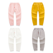2016  New Style Children's Garment Girl Baby Trousers Solid Color Leisure Time Pants Underpant Girl Joker Long Pants