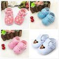 Spring shoes baby shoes 0-1 years old for men and women plus velvet baby toddler shoes soft bottom 3-5-6-7-9-10 months