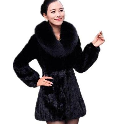Outwear De Lapin Manteaux Synthétique Plus 5xl Noir La Furry Manteau Gris Z168 Taille Fourrure Veste Femmes 6xl Faux Long 7wfC5qz
