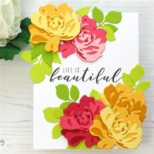 Eastshape Fantasy Floral 3D Flower Clear Stamps and Metal Cutting Dies Scrapbooking for New Craft Set Embossing Stencils