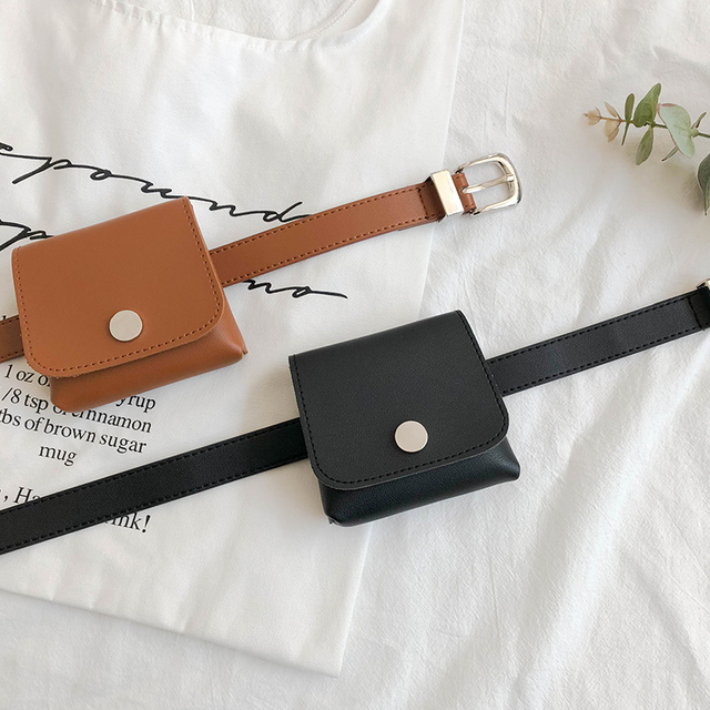 2019 PU Leather Waist Bags Women Designer Fanny Pack Fashion Belt Bag Female Mini Waist Pack Pu Leather Messenger Bolsa New