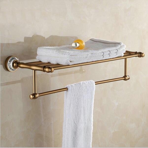 Badezimmer wandhalterung Antique Aluminium handtuch stange rack ...