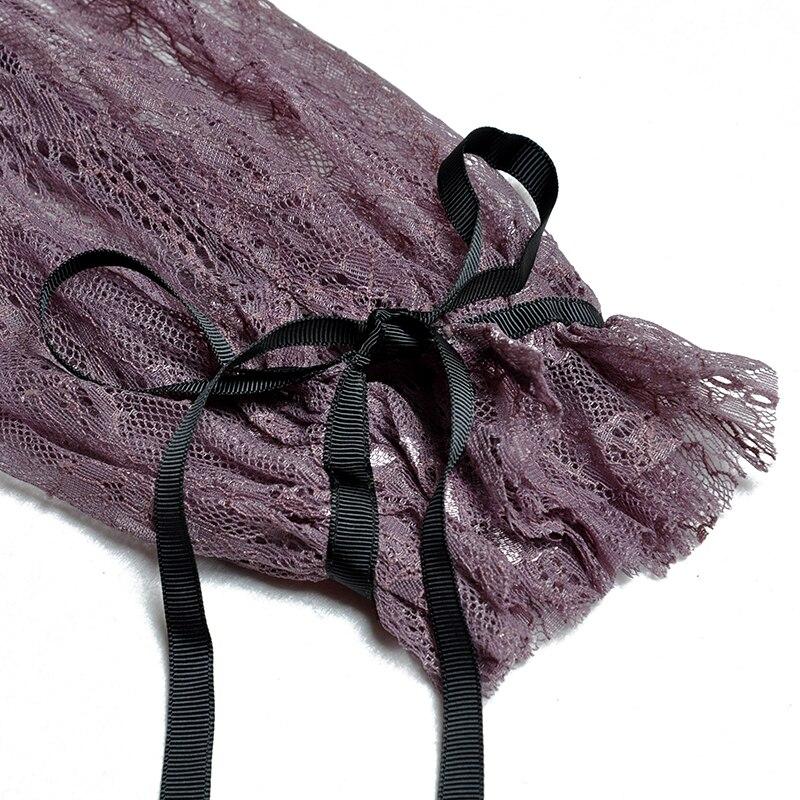 Tie Robe Dentelle Automne Qualité Longues Concepteur Stand Multi Avec Manches Piste Bouton Style Haute Mi Bow mollet Rétro 2018 Nouveau Col sCQdxBthr