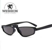 2018 WESHION Brand Design de Señora gafas de Sol de Las Mujeres Gafas De Lectura Única Retro Espejo Gafas de Sol de la Señora Gafas de Sol Recubrimiento
