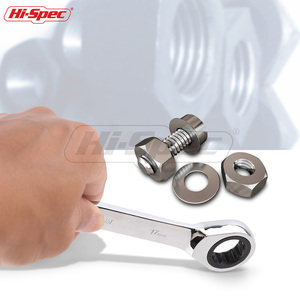 Image 5 - Hi Spec 8pc Ratchet Combination Wrench Set 8 10 12 13 14 15 17 19mm Torque Spanner Set A Set Of Keys Torquimetro Chave catraca