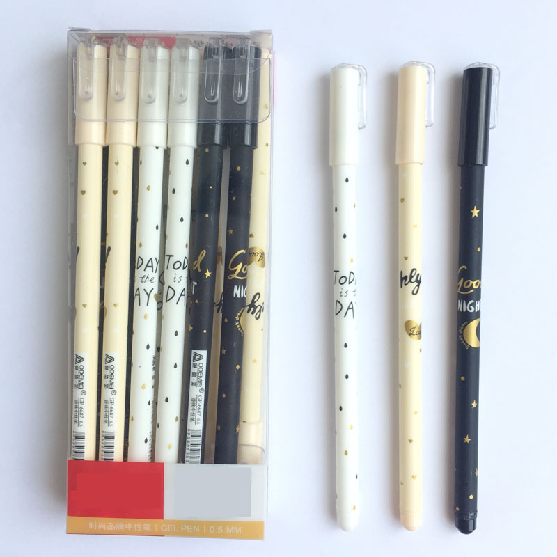 3 pcs/lot Tomorrow Star Gel Pen Ink Pen Promotional Gift Stationery School & Office Supply new design stitch pendant gel pen ink pen promotional gift stationery school