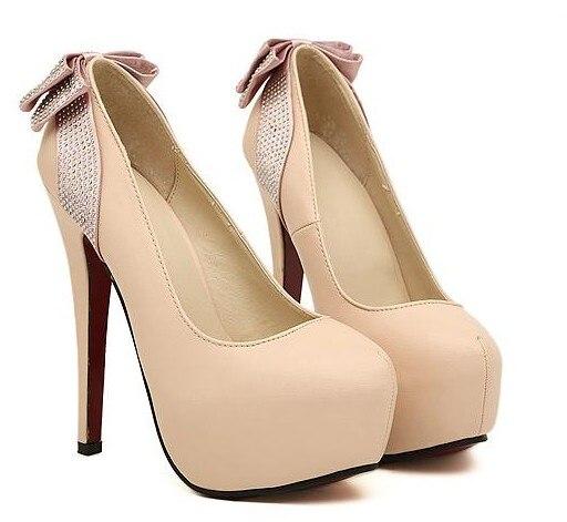 Online Shop Hot sale 2013 hottest stylish rhinestone bow platform