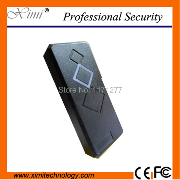 Smart IP65 waterproof access control card reader 13.56MHZ proximity card reader weigand26 card reader 125khz rfid card smart card access control ip65 waterproof metal proximity card access control with keypad weigand in and out