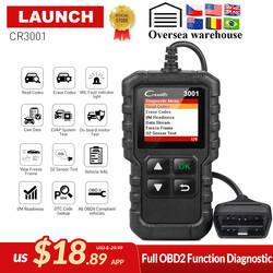 Запуск X431 Creader 3001 полный OBD2 OBDII код читателя сканирования инструменты БД 2 CR3001 автомобиля диагностический инструмент PK AD310 ELM327 OM123 сканер