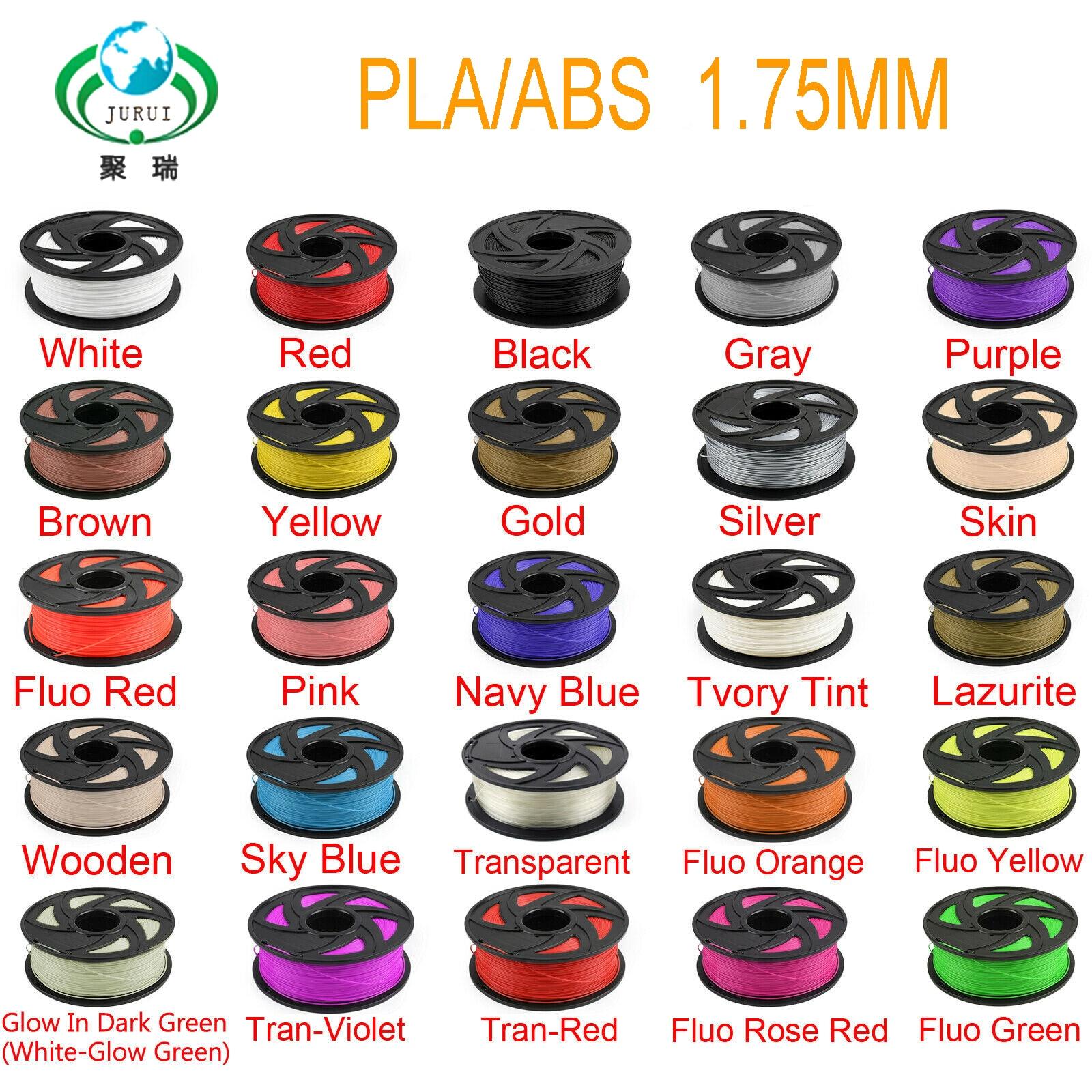 JURUI PLA/ABS 3d drucker filament heizung 1,75 1 kg/rolle PLA/ABS 3d drucker spulen